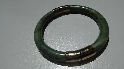 Chinese Jade Bangle Metal Clasp And Hinge