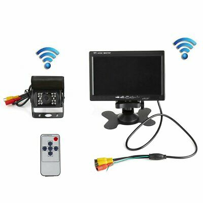 "Rear View Reversing Camera Kits + Wireless 7"" LCD Monitor for Car Bus Truck"