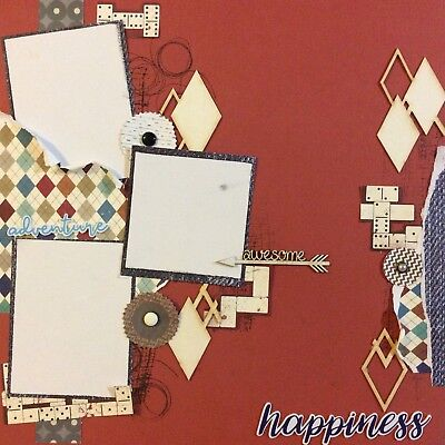 handmade scrapbook page 12 X 12 Happiness Themed Layout