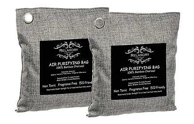 2 Pack - 200g Activated Nano Bamboo Charcoal Bag 100% Natural Odor Absorber