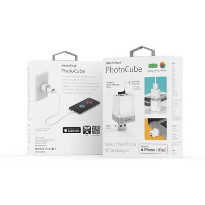PhotoFast PhotoCube auto Charge Backup USB 3.1+micro SD card reader (White)