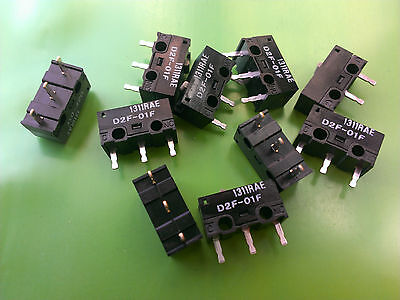 [5 pcs] Omron Japan D2F-01F Subminiature Switch 0.1Amp  Mouse RAZER Kinzu...