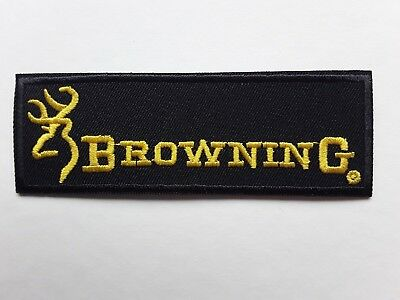 BROWNING SHOOTING EQUIPMENT FLY FISHING CARP TACKLE EMBROIDERED PATCH UK SELLER