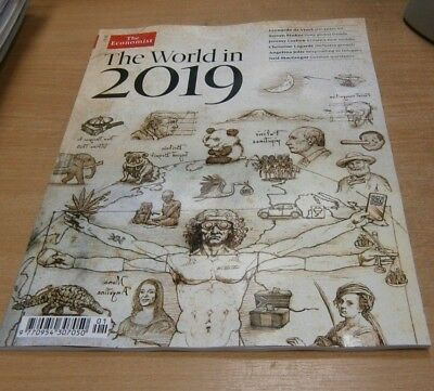 The Economist magazine World in 2019 Leaders, Brexit, Refugees, Steven Pinker &