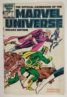 Official Handbook Marvel Universe Deluxe Edition #7 KHORYPHOS TO MAGNETO Ref 138