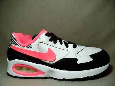 best loved dc9ce 3d353 NIKE AIR MAX ST GS Junior Girls Black White Pink Pow Trainers UK 4.5 EU