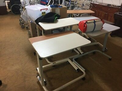 Overbed Table - Laminate  Flat Top - Height adjustable - Bedroom Aids LAST DAYS