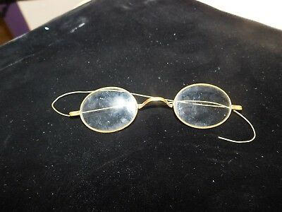Antique Oval Eyeglasses Frames Wire Rim Arms USA