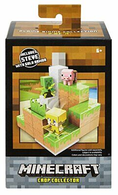 Minecraft Crop Collector Gold Steve Environment Playset Plains Biome Set 2 of 4