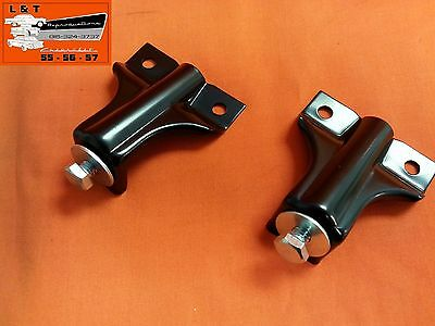 1957 Chevy Hood Rocket Mounting Brackets With Hardware Belair Sedan Hardtop Conv