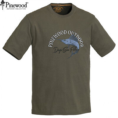 Pinewood 5420 Fisch T-Shirt - Angelshirt Angel Outdoor Shirt - Größe M - XXL