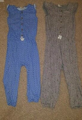 Next age 2-3 girls all in one jumpsuits x 2 with popper legs
