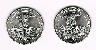 2018 P&d Block Island National Wildlife Refuge (Ri) Atb Quarter- Unc.