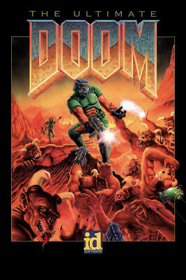 Y930 Ultimate DOOM Vintage Video Game Hot Poster 14x21 24x36 27x40IN