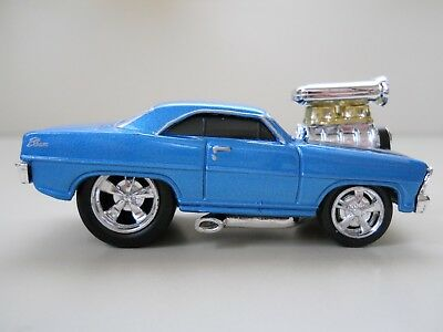 Muscle Machines - 1966 Chevrolet Nova Ss - Supercharged - 1/64 Diecast (Loose)