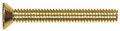 The Hillman Group 2092 Brass Flat Head Slotted Machine Screw 8-32 x 1 30-Pack