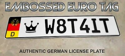 BMW German Eagle Euro European License Plate Embossed - W8T4IT -  GERMANY