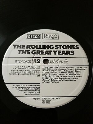 Rolling Stones Decca The Great Years MEGA RARE 4 UK vinyl Mailer Order only NM