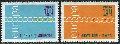 Turkey 1876-1877, MNH. EUROPA. Fraternity, Cooperation, Common Effort, 1971