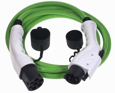 Ev Cables Electric Vehicle Charging Cable Type 1 To Type 2, 15 Metres, 16Amp