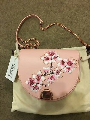 0cf4641bb4 BNWT Ted Baker Suzy Cross Body Shoulder Pale Pink Moon Bag Soft Blossom Rp  £170