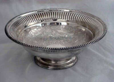 "Vintage Barker Ellis Silver Plate Footed Bowl 6 5/8"" Made In England"