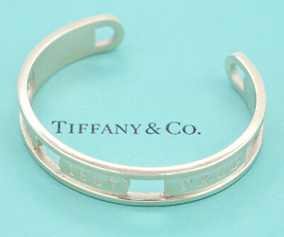 24cf78739 NEW TIFFANY & Co. Grooved Cuff 48 Grams Bangle Bracelet Sterling ...