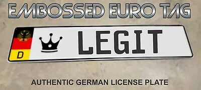 BMW German Eagle Euro European License Plate Embossed - LEGIT -  GERMANY