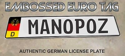 BMW German Eagle Euro European License Plate Embossed - MANOPOZ -  GERMANY