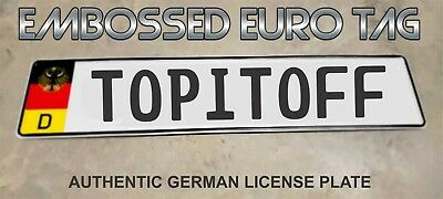 BMW German Eagle Euro European License Plate Embossed - TOPITOFF -  GERMANY