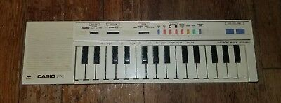 Vintage Casio PT-1 Compact Electronic Keyboard Synthesizer White Tested Working