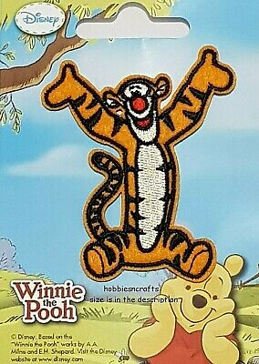 Disney Official Iron On Applique Motif Patch - Tigger From Winnie The Pooh