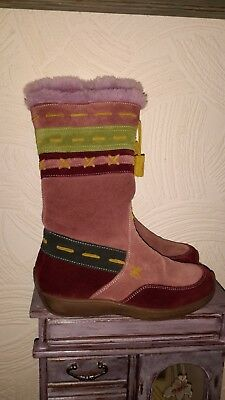 girls size 12 naturino italian leather boots immaculate condition Rrp £110