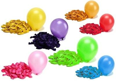 20X METALLIC PLAIN BALOON BALLONS helium BALLOONS Quality Party Birthday Wedding
