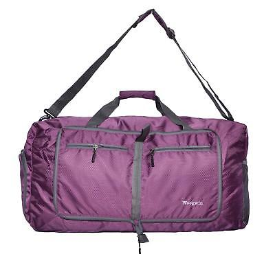 Woogwin Travel Duffel Bag Womens   Mens Large Foldable Duffle Sports Gym  Bags. e8ea5f910191c