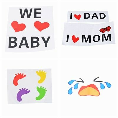 Pregnant Women Belly Stickers Baby Shower Photo Props Reveal Party Keepsakes NEW