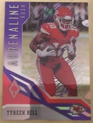 2018 Phoenix Tyreek Hill Chiefs Very Rare Adrenaline Rush Purple Prizm 24 75 abde9ed70
