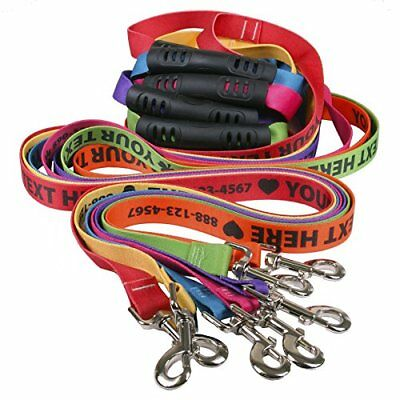 Personalized Dog Leashes with Custom Hi-Def Text and Art, An Embroidered Dog - 6
