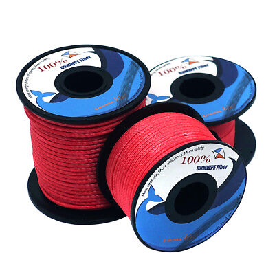 Red Braided Dyneema Line 200lb ~ 1000lb General Working Fishing Tactical Camping
