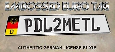 BMW German Eagle Euro European License Plate Embossed - PDL2METL -  GERMANY