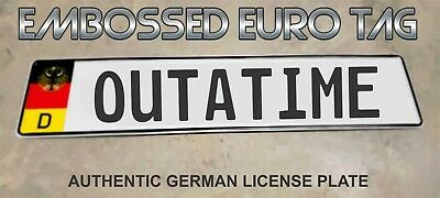 BMW German Eagle Euro European License Plate Embossed - OUTATIME -  GERMANY