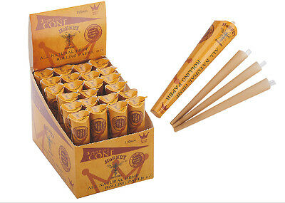 24 X Pack 72 Cones 110MM AUTHENTIC HORNET Rolling Paper Pre-Rolled Cones