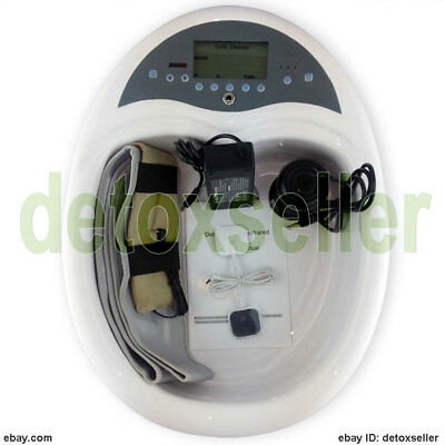 3in1 Pro Foot Detox Luxury Machine Ion Cell Cleanse Aqua Spa Therapy Acupuncture