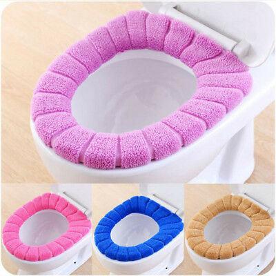Bathroom Toilet Seat Closestool Washable Soft Warmer Mat Cover Pad Cushion BEST