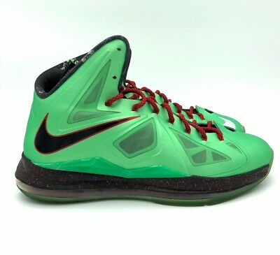 cheaper 83184 f420a Nike Air Lebron 10 X Cutting Jade Men s size 12 basketball shoes Green Red  Black