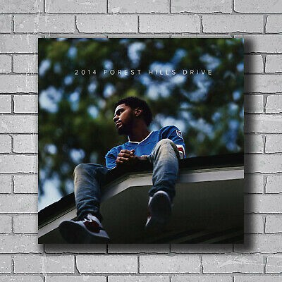 2014 Forest Hills Drive Album Cover Fabric Poster 12x12 24x24 J Cole Art B-427