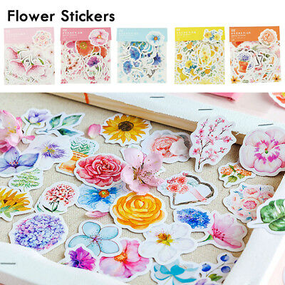 45X Kawaii DIY Journal Cute Diary Flower Stickers Scrapbooking Stationery Supply