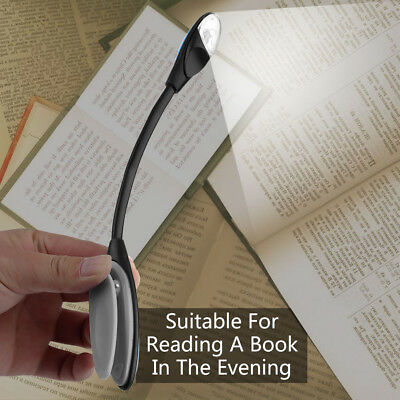 Flexible Double LED Book Reading Light Clip Arm Table Lamp Study Desk Light