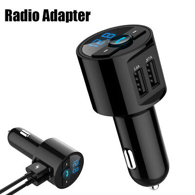 Wireless In-Car Bluetooth FM Transmitter Radio Adapter Car Kit MP3 USB Charger .