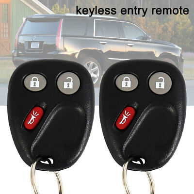 Replacement for 2003 2004 2005 2006 Chevy Silverado Remote Car Key Fob Pair .